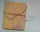 Small journals, SET OF 2, weathered wood,  handmade notebook, diary, church notebook, wedding favors, jotter sytle notebook, canvas style