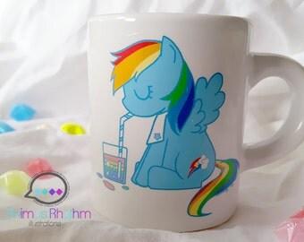 Mini Ceramic Mug: MLP Rainbow Dash Mini Anime Cup Cartoon