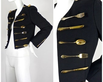 Vintage Iconic MOSCHINO Couture Dinner Jacket