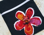 Handmade Boho Upcycled Repurposed Flower Cross body Handbag