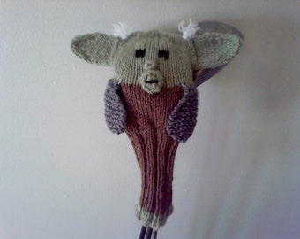 Knit Yoda Golf Club Covers, Knit, Golf Cover, Father's Day Gift