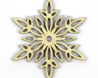 Snow Swords - Laser Cut Wood Snowflake in Multiple Sizes and Quantity Discounts