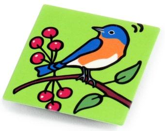 Bluebird Metal Magnet