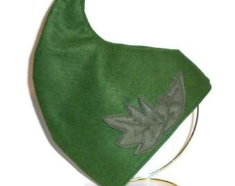 Made to order- Woodland Elf Hat / Felt Elf Hat / Green Pointy Elf Costume / Wood Elf / Rensissance festival costume, Pixie, Fairy, Sprite