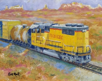 South West Union Pacific - my original oil painting