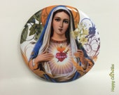 "Immaculate Heart of Mary 2.25"" Button"