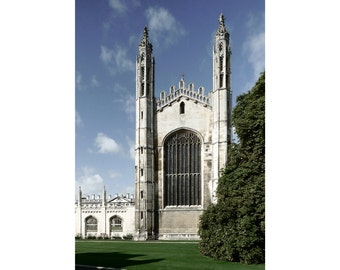 the east front of the chapel, King's College, Cambridge — archival mounted print