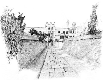 the entrance to Jesus College, Cambridge — limited edition archival print