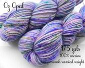 Worsted Weight yarn - Oz Opal - 100% merino superwash, 175 yds