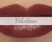 "Vegan Lipstick Sample - ""Velveteen"" (dark reddish brown lipstick) burgundy brown lip tint, balm, lip colour mineral lipstick"