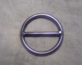 Round Slide Buckle Steel 2""