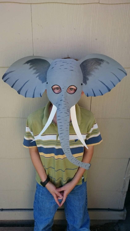 paper mache elephant mask - photo #12