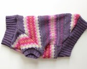 Purple FairIsle Upcycled Dog Sweater