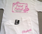 Petal Patrol Personalized Flower Badge Wedding T-Shirt