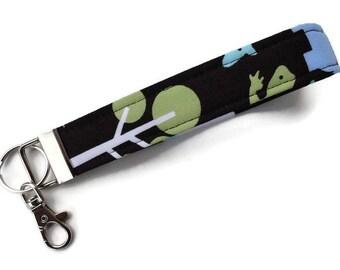 Key Fob, Key Chain, Wristlet Key Chain, Wrist Key Chain, Keychain, Fabric Key Chain with Large Lobster Clasp. READY to SHIP