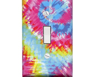 Tie Dyed Retro Switch Plate Cover