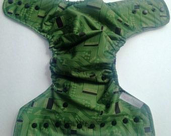 Circuit board computer AIO diaper, all in one diaper, cloth diaper, nappie