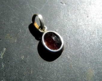 Pendant, tourmaline, silver, red, sterling silver, jewelry