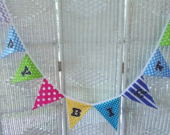 Fabric Happy Birthday Banner