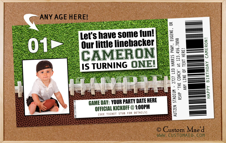 football birthday invitation football birthday party