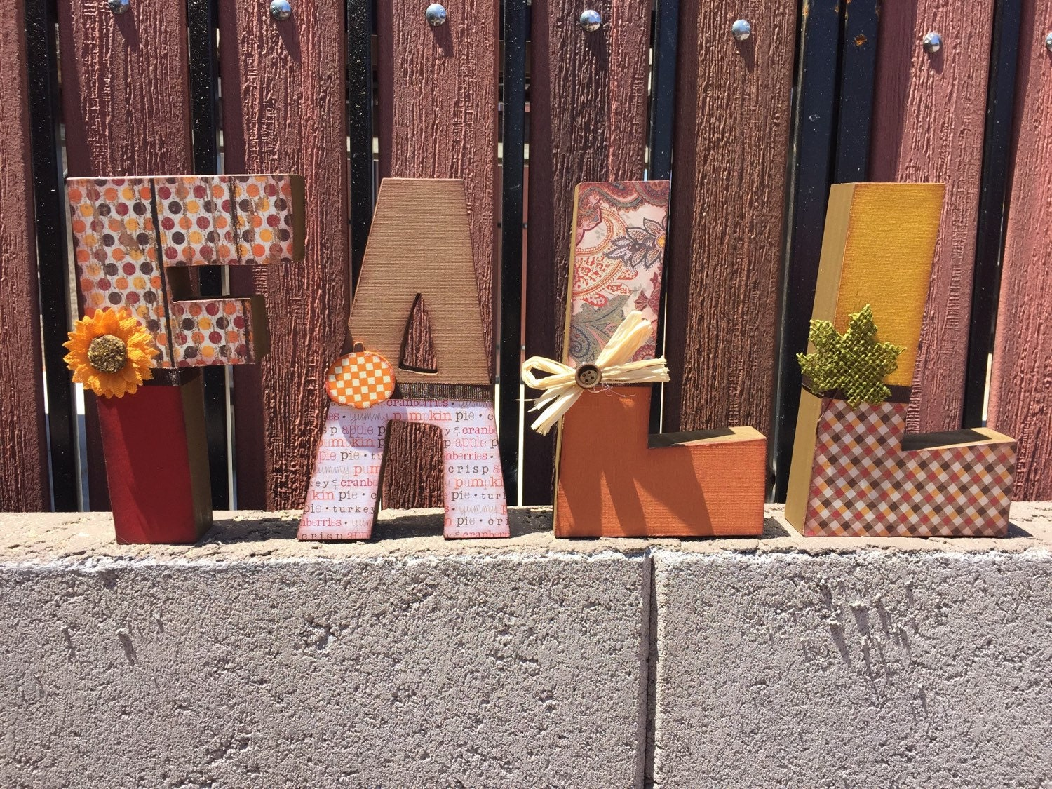 Fall decor wooden blocks by kidmuralsbydanar