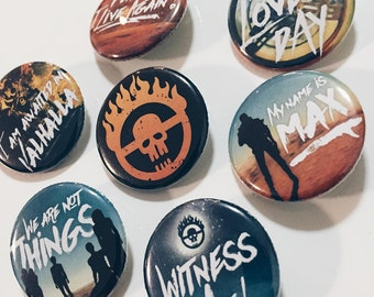 Mad Max: Fury Road 1.25in Buttons - pinback or magnets