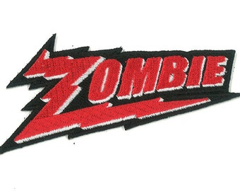 "3.5"" Wide Zombie Zenith Electronics Iron-on / Velcro Patch Monster Horror Punk Emo Scene Kid Goth Gothic Psychobilly Rockabilly Vampire Gore"