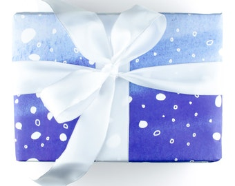 Holiday Wrapping Paper for Christmas Wrapping Paper Christmas Gift Wrap Christmas Giftwrap for Holidays - Blue Snow Wrapping Paper