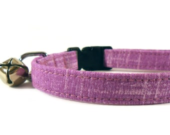 Cat Collar, Small Dog Collar, Amethyst