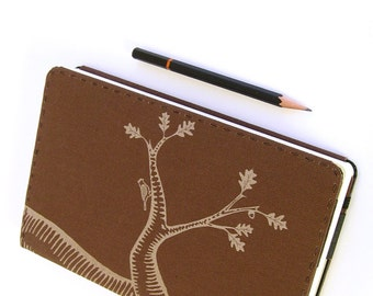 Oak Tree Canvas Moleskine Notebook Cover - Choose from 8 Colors of Canvas - Fits Large Moleskine 5 x 8.25 inch Hardcover Notebooks