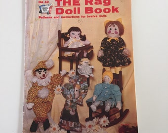 1970-80's Vintage Rag Doll book, with pattern