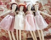 2015 PRICES! Ballerina Ragdolls: Handmade from Vintage and Recycled Materials, Cloth Doll, Dance, Ballet, Nutcracker