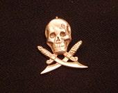 silver Pirate Charm 925