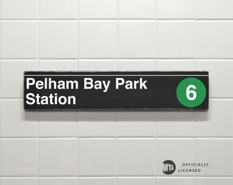 Pelham Bay Park Station - New York City Subway Sign - Wood Sign