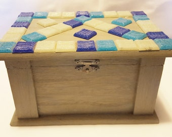 3E Rectangular Jewelry box with glass tiles