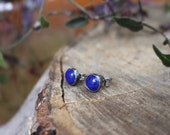 Night Sky - Tiny Lapis Stud Earrings