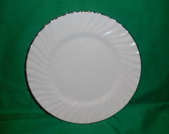 "One (1), 8 1/4"" Salad Plate, from Franciscan, in the Platina Pattern."