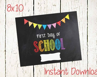 Instant Download-FIRST Day of School Printable