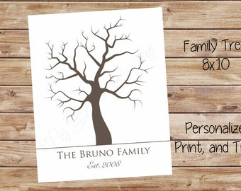 8x10 Personalized Family Tree Printable
