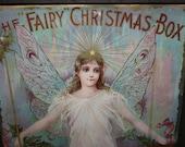 Antique The Fairy Soap Christimas Box, Fairbanks Fairy Soap.  Store Display Box, Fairy, Litho Advertisement