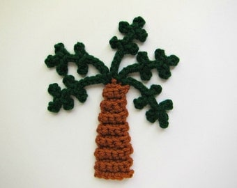 "1pc 6.5"" Crochet PALM TREE Applique"