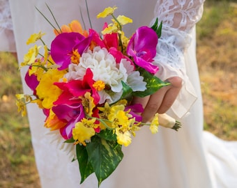 Clearance! Spring / Bright Bridal Bouquet ( Great Keepsake Item )
