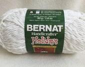 Bernat Handicrafter Holidays Yarn White Sparkle Cotton