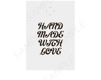 Instant Download , Handmade Tags, Printables Tags, Handmade With Love, Labels And Tags, Etsy Shop Supplies, Printable PDF Tags