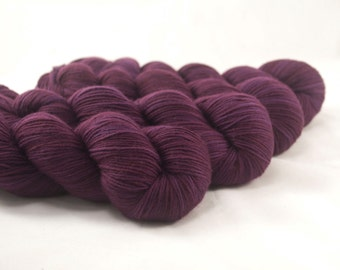 Hand Dyed Merino / Nylon Sock Yarn Burgundy
