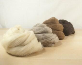Natural Coloured Shetland Roving Sample Pack