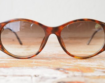 Vintage Christian Dior Sunglasses Oversized Brown with golden temples CHEAP