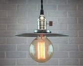 Pendant Lamp With Metal Shade - Hanging Industrial Lights - Industrial Lighting - Ceiling Light - Edison Bulb Pendant Lamp