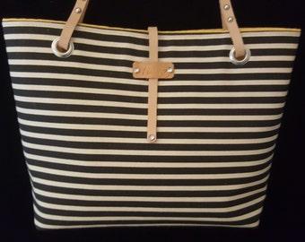 Black Stripes - Bag with stripes - Purses with stripes - Handmade - Shoulder Bag - Handbag