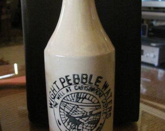 Vintage Decorative Bottle with Advertising, Made in Japan